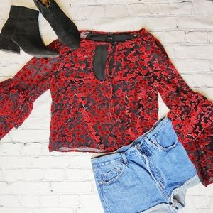 Lucca | Triple Tier Sleeve Floral Top